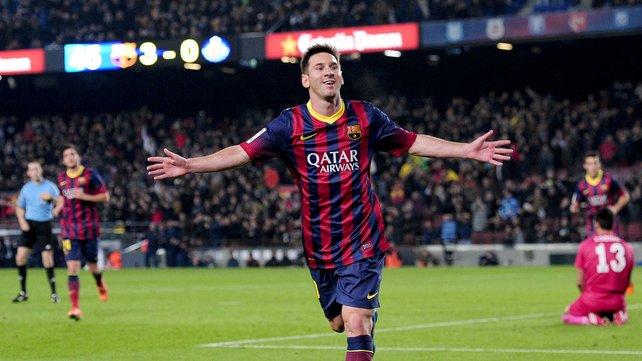 Messi iguala a Telmo Zarra